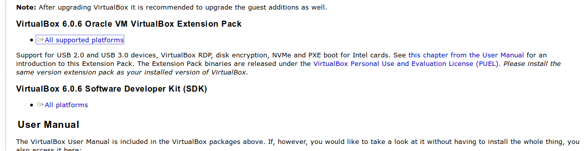 Download do VirtualBox